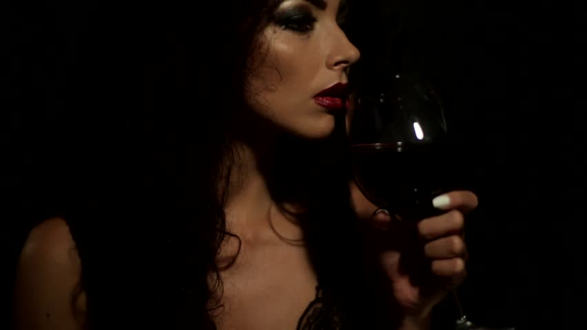 The girl with the wine glass something is