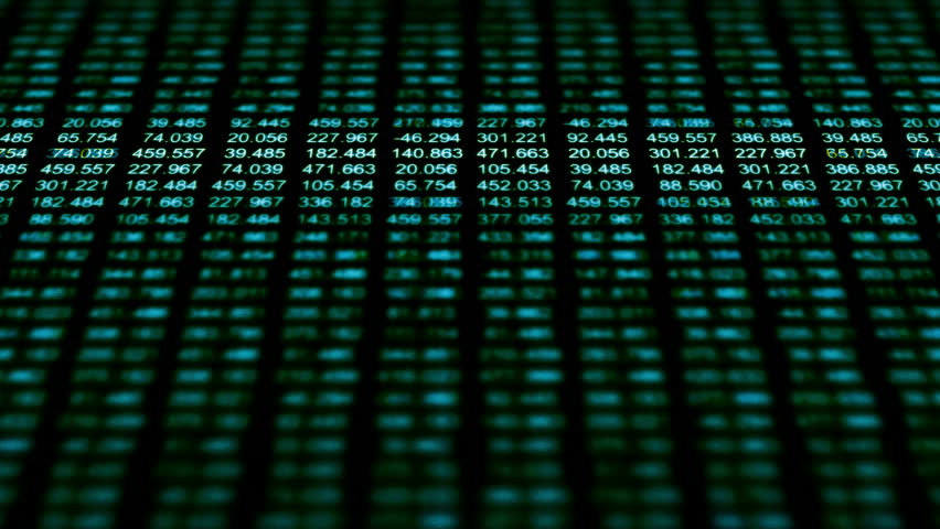Data Storm 0546: A data grid of streaming numbers (Loop). | Shutterstock HD Video #13683101