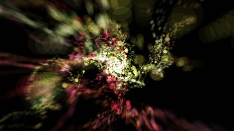 Spiral particle tunnel effect abstract background in red