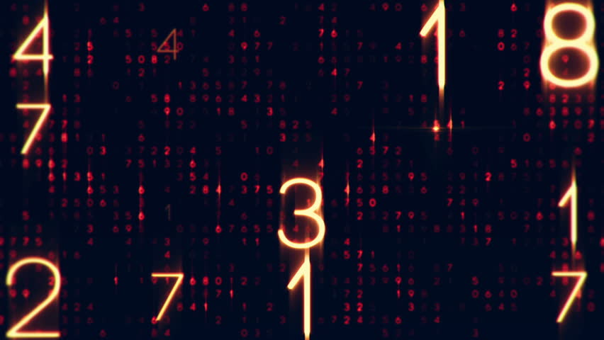 Technological background with animation appearance of bright digital numbers. Animation of seamless loop. | Shutterstock HD Video #13741565