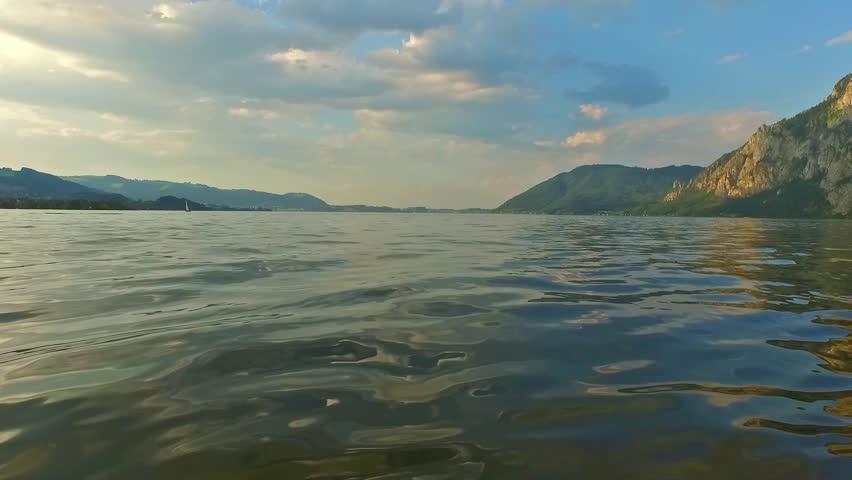 Traunsee, Summer, alpine Lake traunkirchen (Austria). | Shutterstock HD Video #13780001