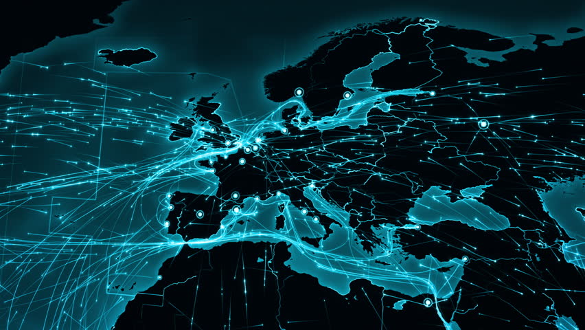Stock video of world map with connections from europe 13806551 stock video of world map with connections from europe 13806551 shutterstock gumiabroncs Images