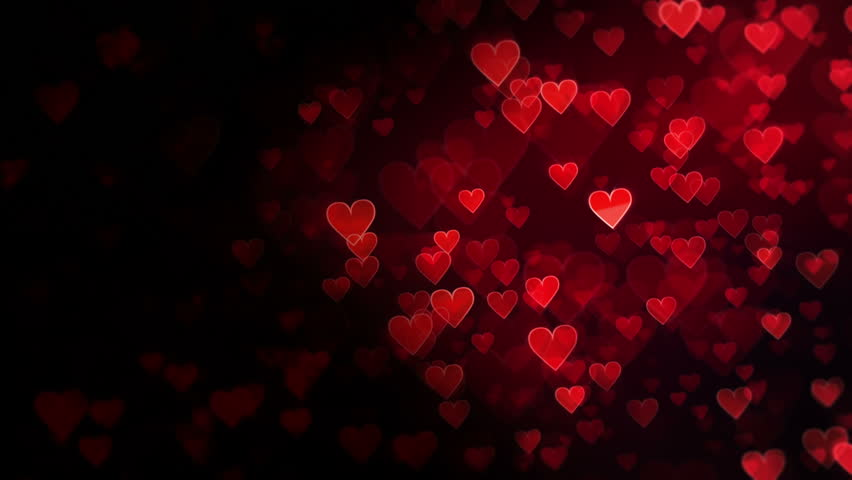 Red Hearts Abstract Background Valentine Theme Love