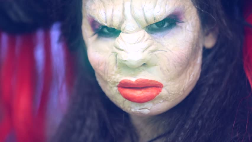 Woman with an Ugly Witch Stock Footage Video (100% Royalty,free) 13851761