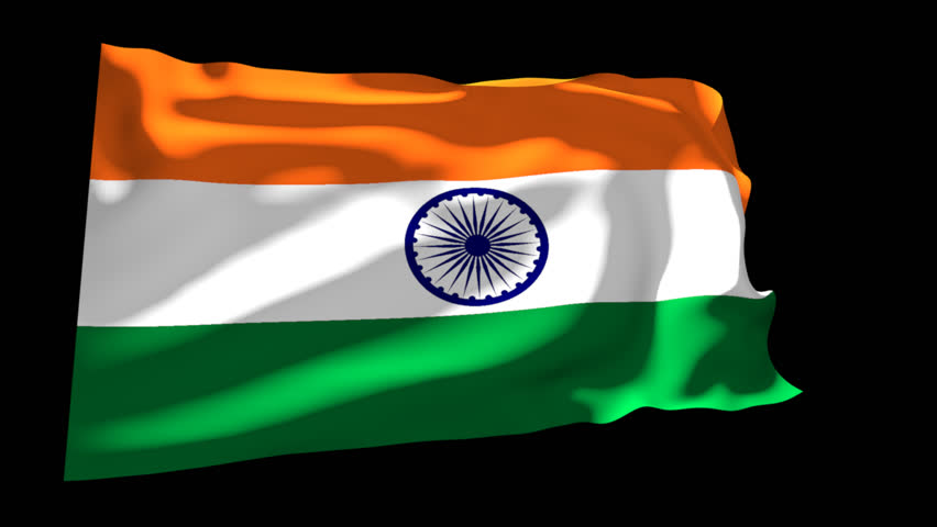 Flag of india beautiful 3d animation of india flag with alpha flag of india animation alpha channel hd stock video clip negle Image collections