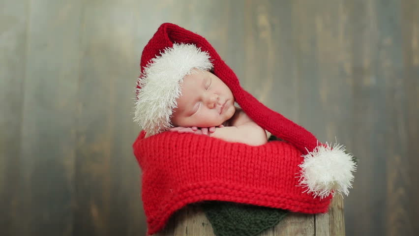 eef9f8060 Cute Newborn Child in Christmas Stock Footage Video (100% Royalty-free)  13926731 | Shutterstock