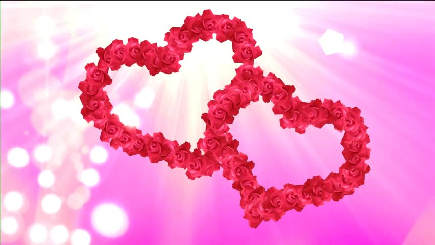 Stock video clip of wedding video two hearts from animated - Pics of roses and hearts ...