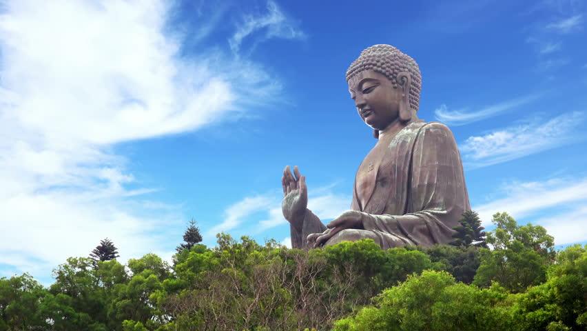 4K Timelapse Of The Tian Tan Big Buddha Statue In Lantau -2531