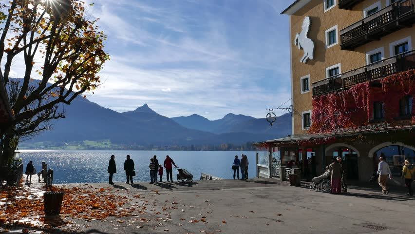 Salzkammergut austria nov 8 2015 market town of st wolfgang salzkammergut austria nov 8 2015 market town of st wolfgang im salzkammergut austria this town named after saint wolfgang of regensburg and also a sciox Images
