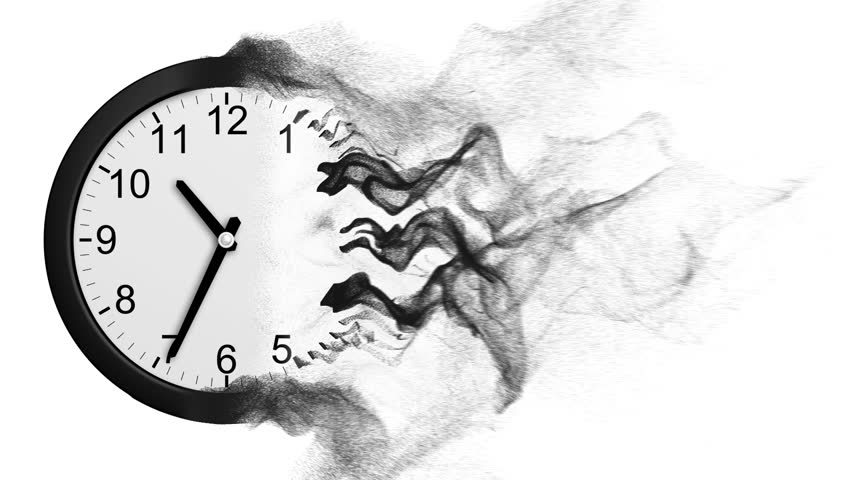 Time Disintegrating Into Dust. 3D Animation.