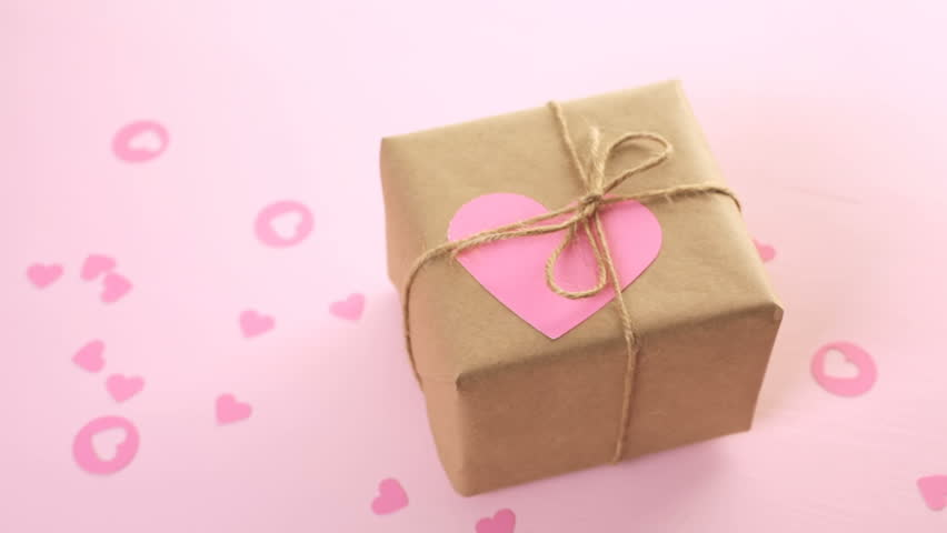 Decorated Gift Box Classy Gift Box Wrapped In Recycled Paper And Decorated With Pink Heart Review