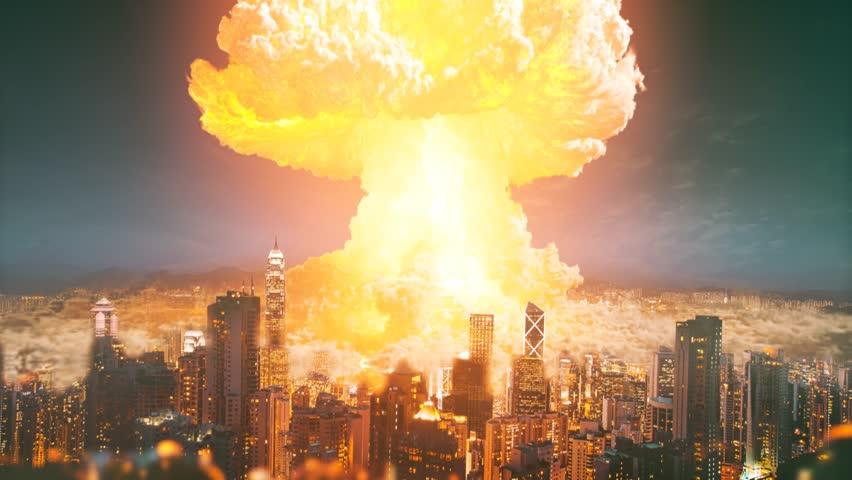 Atomic Bomb Over City! (Victoria Harbour)  4K