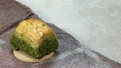 Mini cupcakes on the decorative volcanic plate.