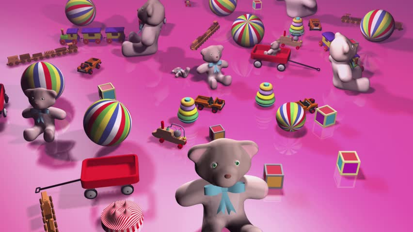 Teddy Bear And Childrens Toys Stock Footage Video 100 Royalty Free