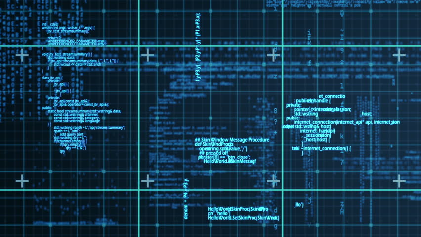 Digital animation of blue matrix   Shutterstock HD Video #14350888