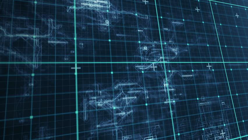 Digital animation of blue matrix | Shutterstock HD Video #14350921