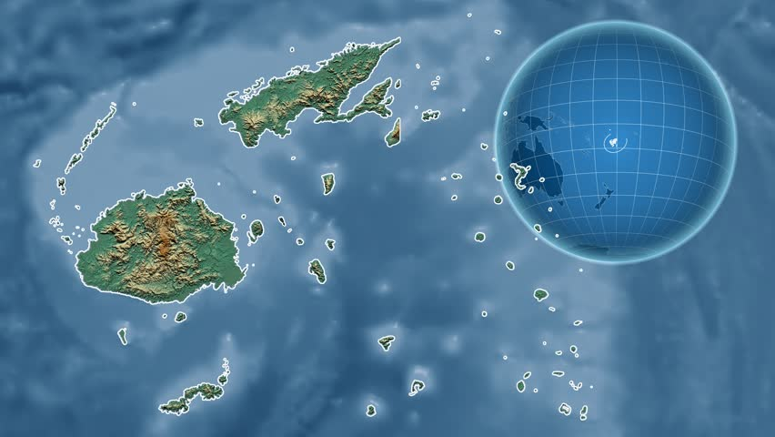 Fiji shape animated on the satellite map of the globe stock fiji shape animated on the relief map of the globe 4k stock footage clip gumiabroncs Gallery