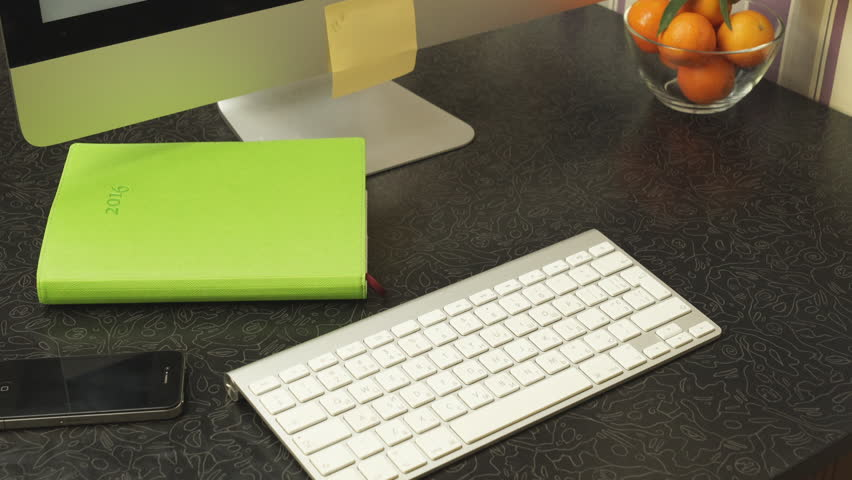 Female hands fast typing on the keyboard. Easy to work with files. | Shutterstock HD Video #14363296