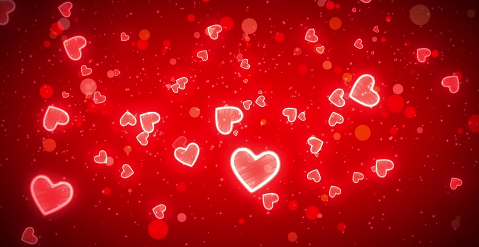 Valentines Day Hearts Background For Stock Footage Video 100