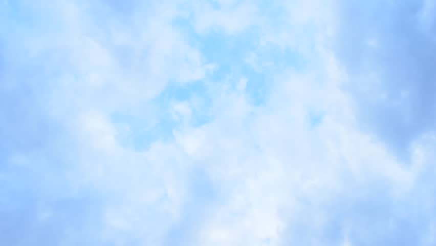 Clouds and sky background, clouds texture. Clouds in the sky above. Light blue full hd high definition video background.