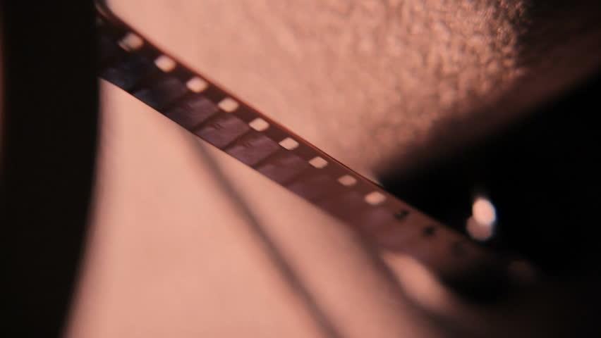 8 mm film projector macro close filmstrip reel