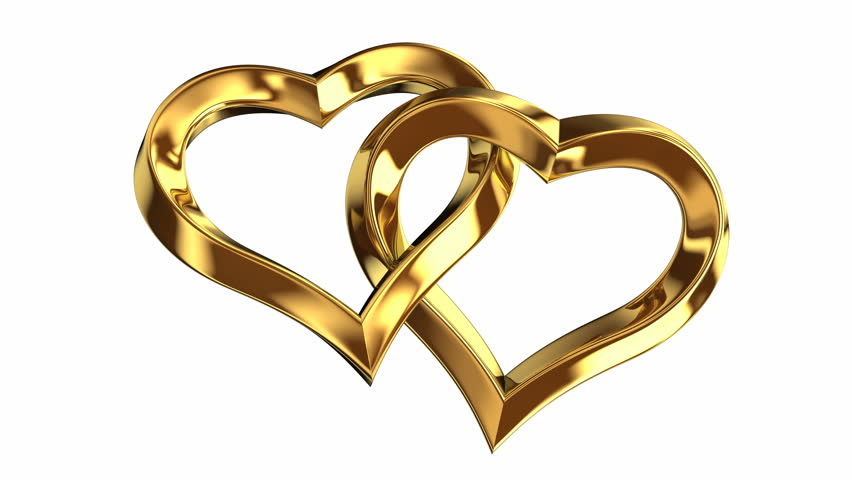 Two Rotating Heart Of Gold Stock Footage Video 14500921 Shutterstock
