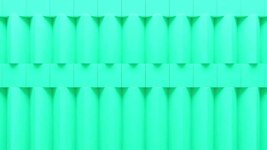Abstract rectangular and box elements background with randomly rotated elements, 3d render or boxes and rectangles with fillet edges, loopable | Shutterstock HD Video #14550631