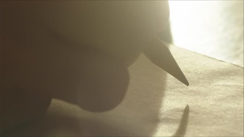 Man Making a Pause before Writing or Drawing