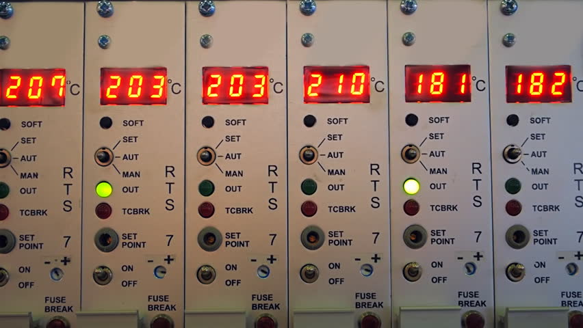 The Main Control Panel With Buttons And Digital Displays For ...