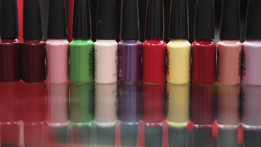 Bright Colors of Nail Polishes Stock Footage Video (100% Royalty-free)  14655871 | Shutterstock