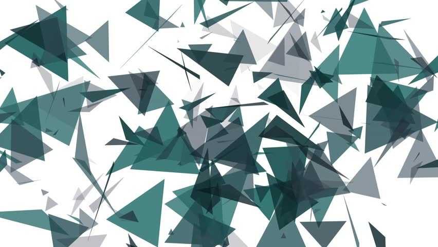 4K Lowpoly Triangles Background Animation in White and Blue | Shutterstock HD Video #14702404