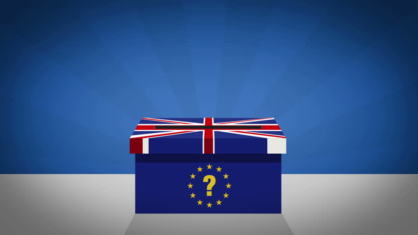 Brexit - United Kingdom referedum on leaving European Union motion graphic animation
