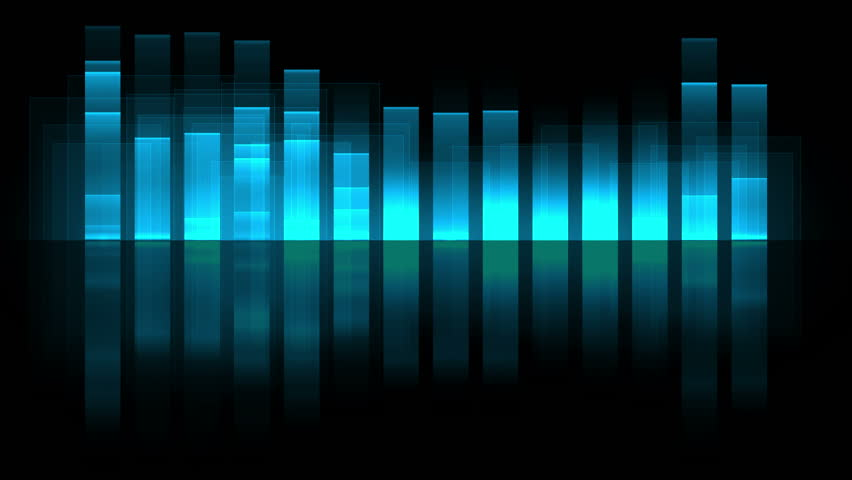 sound wave graphics equalizer  computer stock footage video  100  royalty