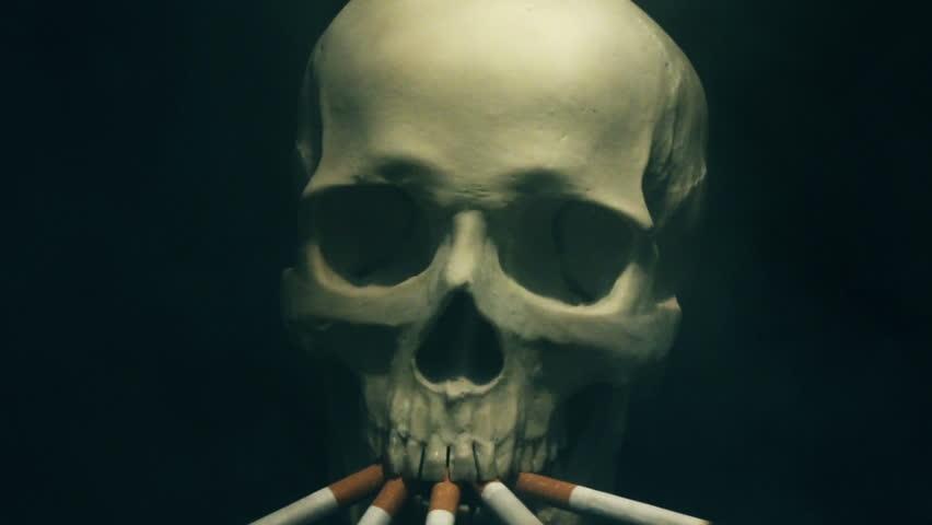 Smoking skeleton | Shutterstock HD Video #14765896