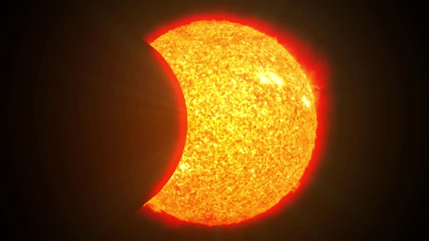 Solar eclipse sun moon planet earth space cosmic system 4k #14770087