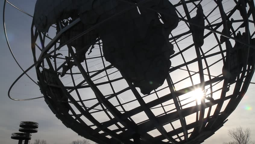 New York City B-Roll  - The Unisphere, the theme symbol of the 1964–1965 New York World's Fair, in Flushing Meadows–Corona Park in the borough of Queens, New York City.