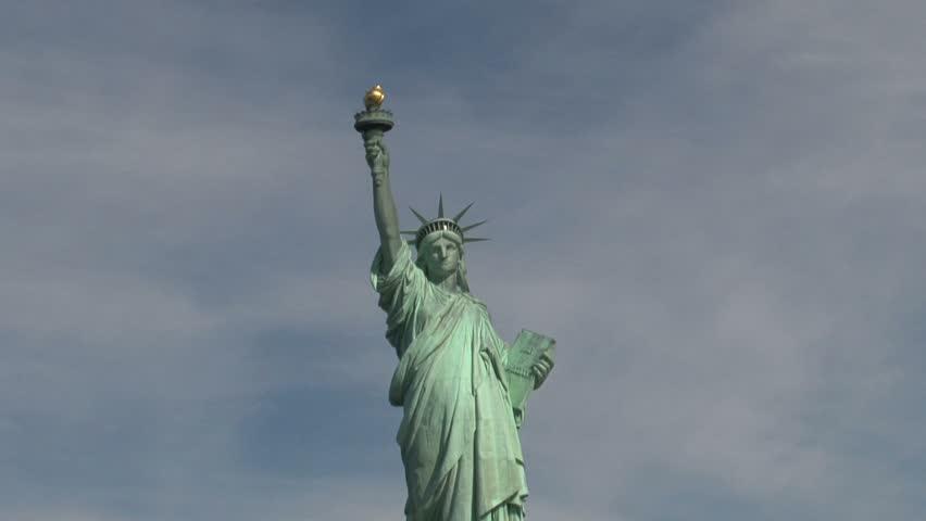 New York - Circa October 2010: Statue of Liberty. | Shutterstock HD Video #1482481