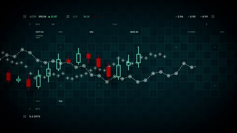 Financial data developing over time. Available in multiple colors. Loops seamlessly.
