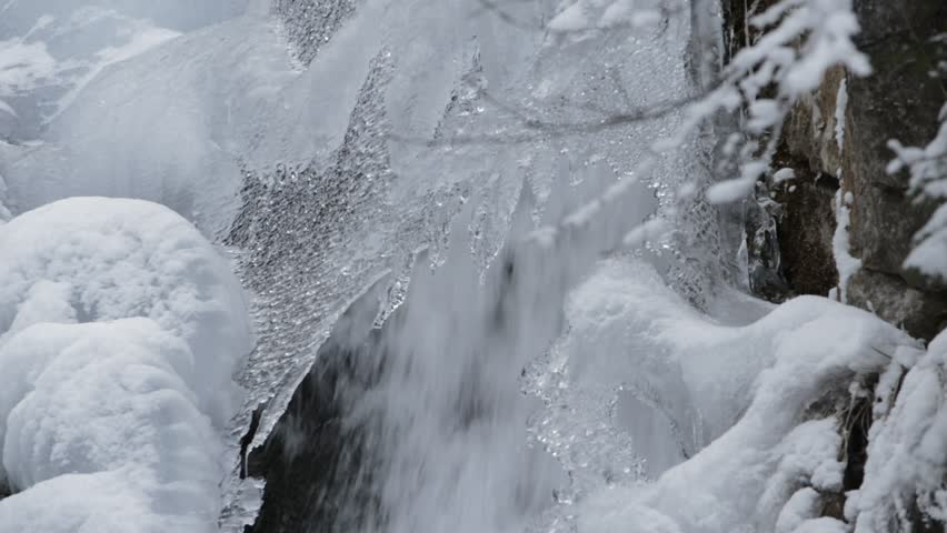Ice and waterfall in winter   Shutterstock HD Video #14842786