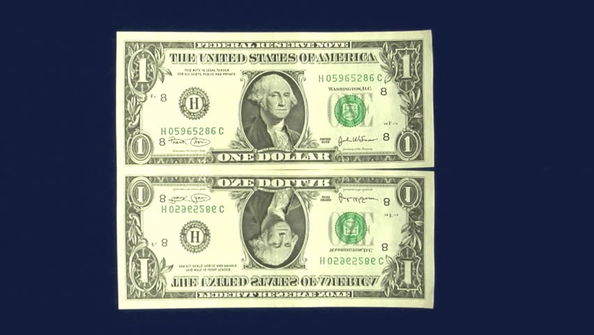 Dollar Bill Hit With Foreign Currency