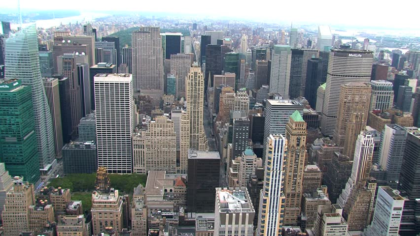New York - Circa October 2010: Aerial view of a New York City street. | Shutterstock HD Video #1487641