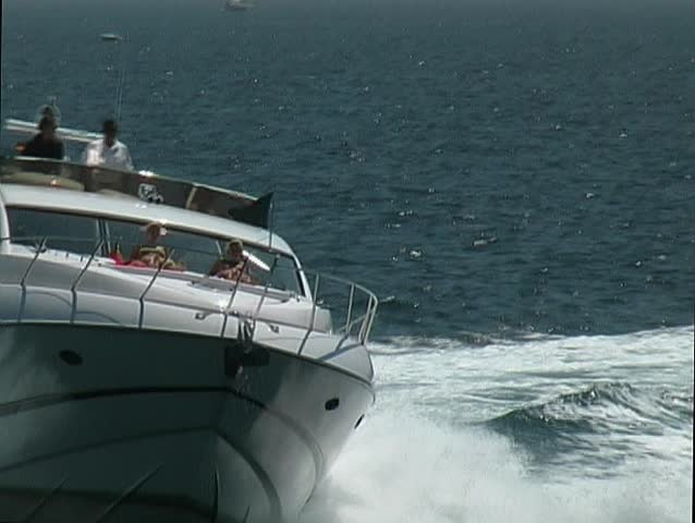 White motor yacht at sea
