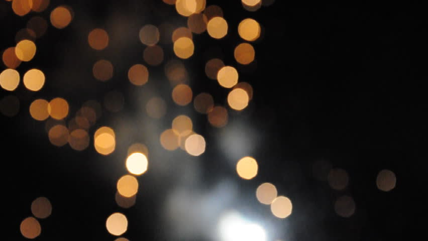Bokeh Of Colorful Fireworks Exploding Stock Footage Video
