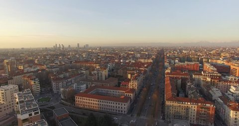 MILAN // Italian Boulevard // Aerial Footage - Riprese Aeree // 4K