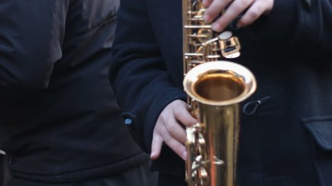 saxophone live gypsy music ,handheld camera