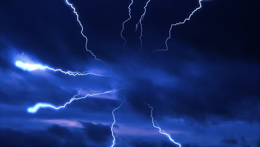 blue clouds lightning storm background effect #15001231