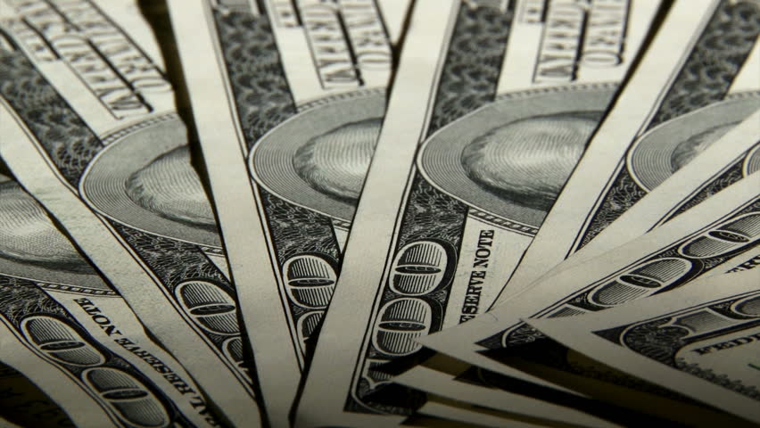 US Dollars Money Map And Flag In Background Business Concept