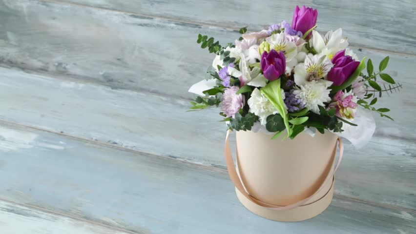 Beautiful Summer Bouquet Of Flowers Stock Footage Video 100