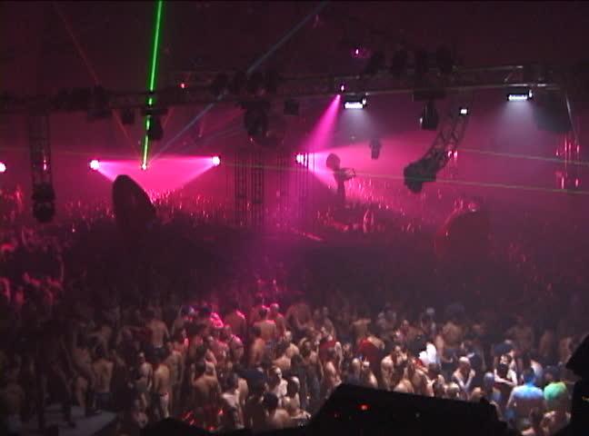 Crowd dancing at festival