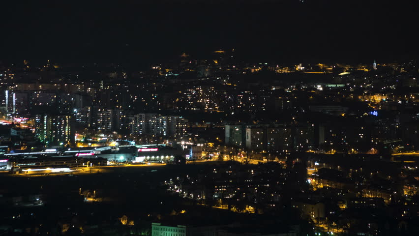 Time lapse of the busy city life in the night | Shutterstock HD Video #15111151